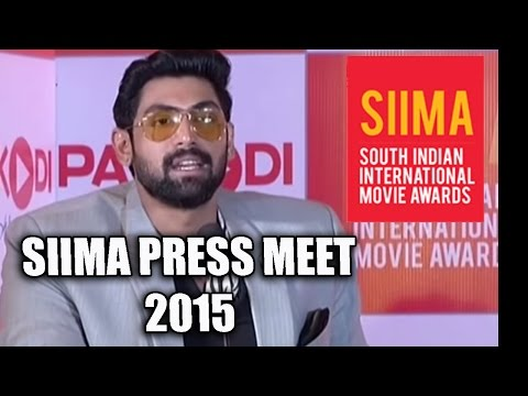 Press Meet : SIIMA (South Indian International Movie Awards) 2015 at Dubai - Gulte.com