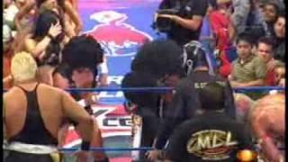 Lucha Libre Mistico, Volador Jr y Shocker vs Último Guerrero, Mr. Niebla y Negro Casas 01