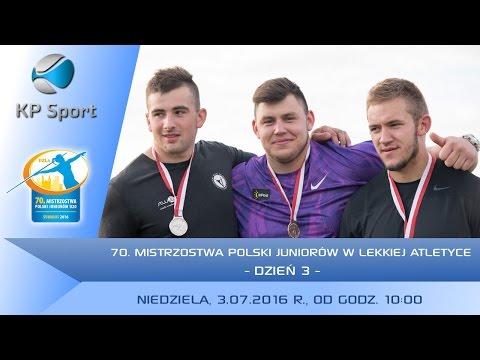 70. Mistrzostwa Polski Juniorów W Lekkiej Atletyce - Suwałki / Dzień 3 [3.07.2016]