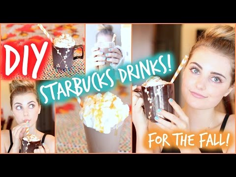 DIY Fall Starbucks Drinks: Pumpkin Spice & Salted Caramel!🍂 | Aspyn Ovard