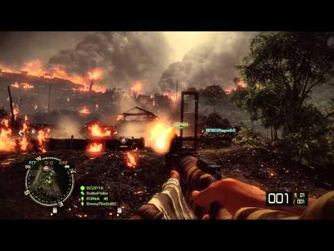 BFBC2 Vietnam gameplay - Hill 137 and Vantage Point Music Videos