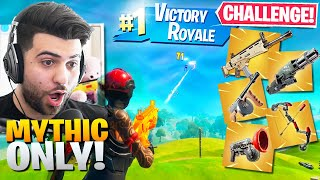 I WON Using *ONLY* MYTHIC WEAPONS! (Impossible) - Fortnite Battle Royale Challenge