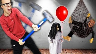 Trapping Hacker and Destroying Creepy Doll to Save Game Master! | Matt and Rebecca