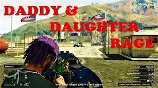 DADDY & DAUGHTER INTENSE RAGE 😡🤬 {GTA ONLINE FUNNY TROLLING}