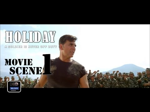 Holiday (2014) Official Movie Scene #1| Akshay Kumar,Sonakshi Sinha thumbnail