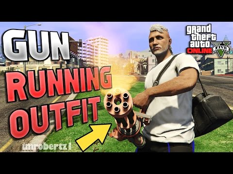 GTA 5 Online - Outfit Tutorial Gun Running RNG! Modded RunNGun Tryhard Clothing! (GTA 5 Glitches)