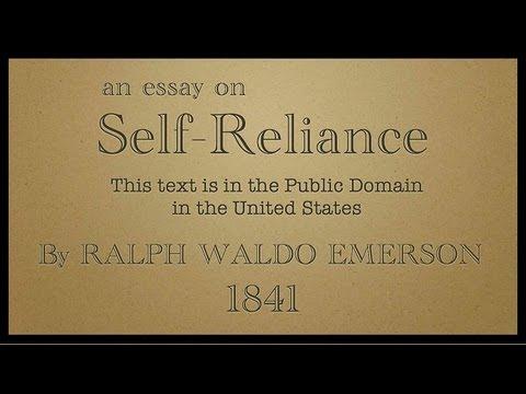emersons essay self reliance