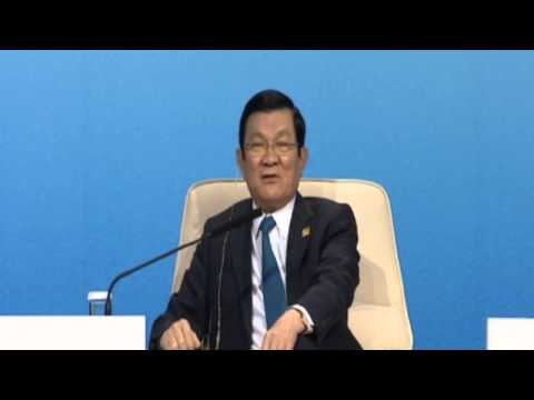 Truong Tan Sang, President of Viet Nam, at the APEC CEO Summit