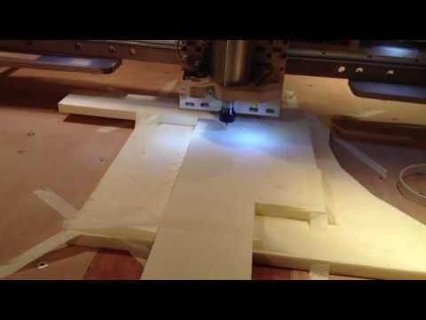 Homemade DIY CNC router with linux CNC . first cuts and trials on my cnc homemade