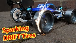 Sparking DRIFT Tires on DIRT CHEAP RC CAR - WLToys a959 Drifting
