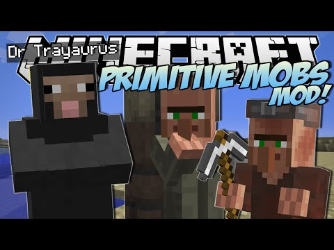 Minecraft PRIMITIVE MOBS MOD SheepMen Smart Villagers More Mod Showcase