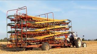Baling and loading small bales   David Brown 885   Kemper Ballenautomat Express BE 125