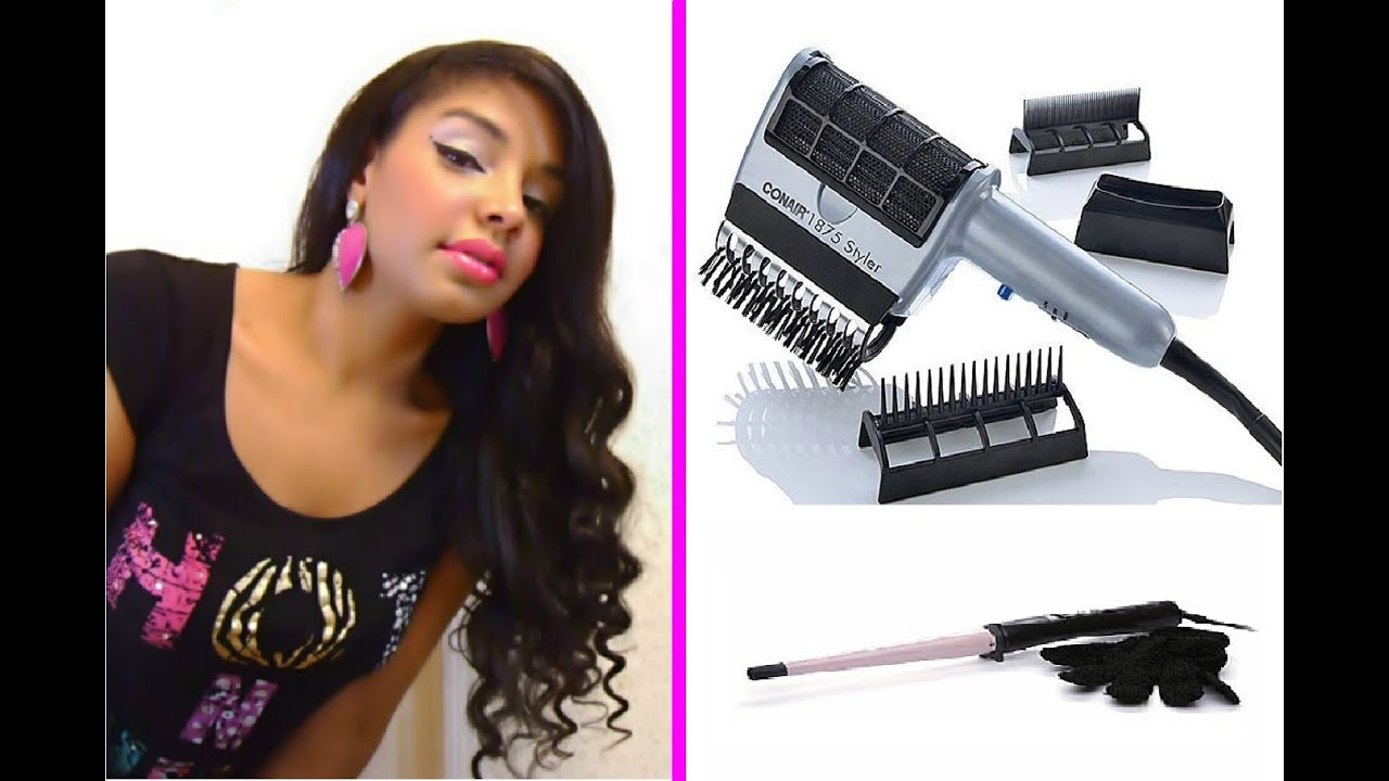 How To Straighten Natural Curly Hair Fast Conair Styler