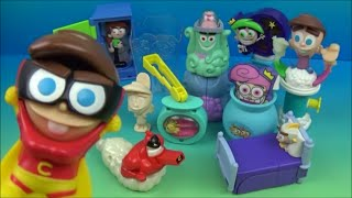 2004 THE FAIRLY ODDPARENTS SET OF 10 BURGER KING KIDS MEAL TOYS VIDEO REVIEW