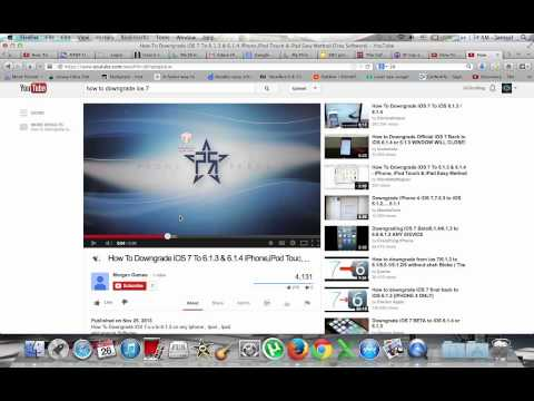 How To Downgrade iOS 7 To 6.1.3 & 6.1.4 iPhone.iPod Touch & iPad Easy Method [Free Software[