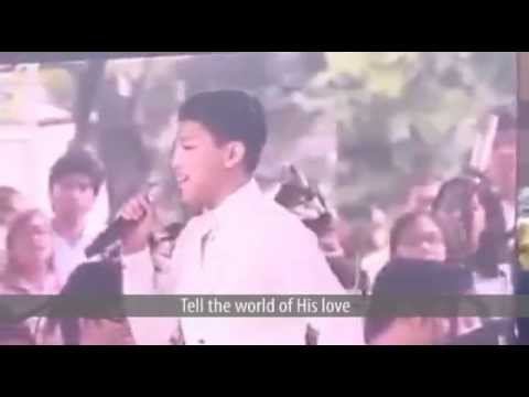 Tell the World of His Love - by Darren Espanto and the UST Conservatory of Music (Live w/ Lyrics)