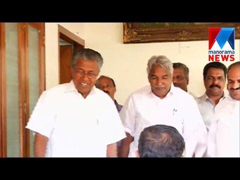 Pinarayi visit Oommen Chandy in Puthuppalli House | Manorana News