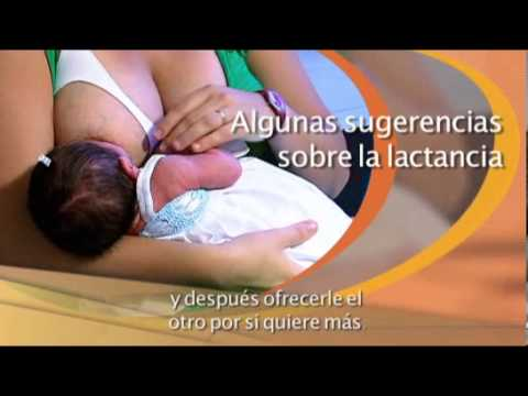 Lactancia: sugerencias sobre lactancia materna.