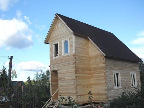 Дом из бруса. Строительство.
