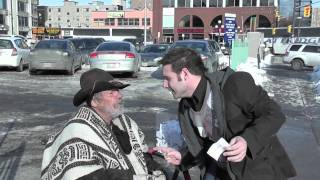 iPod touch Winner with Homeless man -  DAY 32 of 365