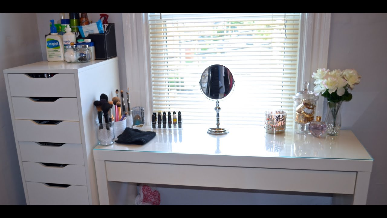 Makeup Vanity Collection Organization Youtube