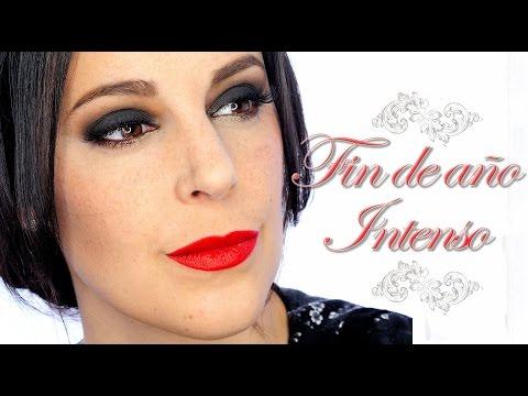Tutorial Maquillaje Fin de año. ahumado negro y labios rojos    Silvia Quiros