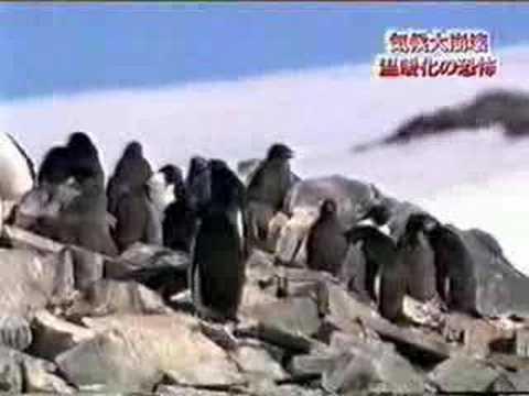 Global warming - Waterfall in Antarctica