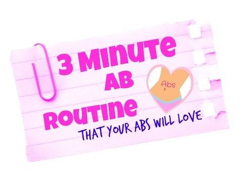 Home Workout 3 MINUTE AB & WAIST ROUTINE ( that your abs will love & will give you killer curves)