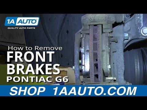 How To Install replace Do a Front Brake Job Pontiac G6 Saturn Aura
