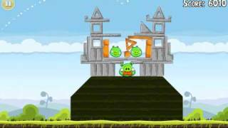 Official Angry Birds walkthrough for theme 4 levels 16-21