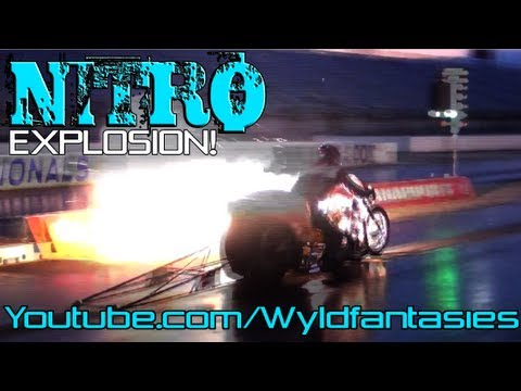 TOP FUEL nitro Pro Dragster motorcycle drag bike racing Manufacturers Cup Indy 2012