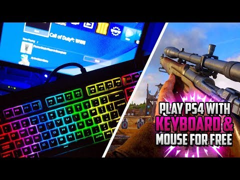 HOW TO PLAY PS4 USING KEYBOARD & MOUSE! (Use Mouse and Keyboard on PS4!)