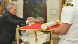 Former PM Vajpayee receives Bharat Ratna, India's highest civilian honour