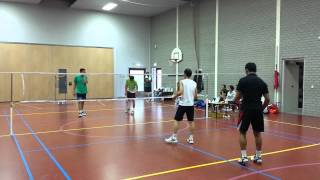Big Match latihan AIA Badminton Club - 15 September 2013 (Game 1)