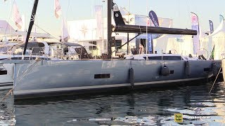 2019 Ice Yacht 60 Sailing Yacht - Deck and Interior Walkaround - 2018 Cannes Yachting Festival