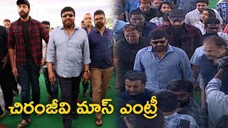 Chiranjeevi Mass Entry @ Allu Arjun ,Varun Tej, Sai Dharam Tej |PanjaVaishnav Tej Debut Movie Launch