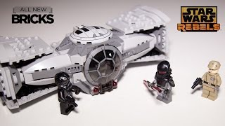 Lego Star Wars Rebels 75082 TIE Advanced Prototype Speed Build Review