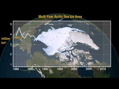 NASA Tracks Decline in Thick Sea Ice in the Arctic