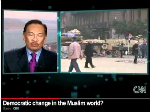 CNN International interview with Anwar Ibrahim on #Egypt and Democracy in the Muslim world