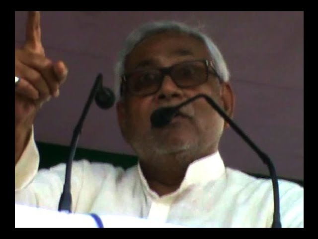 Bihar Chief Minister Nitish Kumar threatens protesters at Samastipur rally