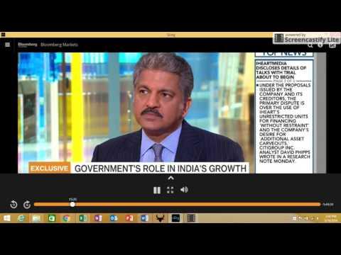 Anand Mahindra on Modi (Bloomberg US)