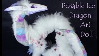 Barapha the Ice Dragon Poseable Art Doll