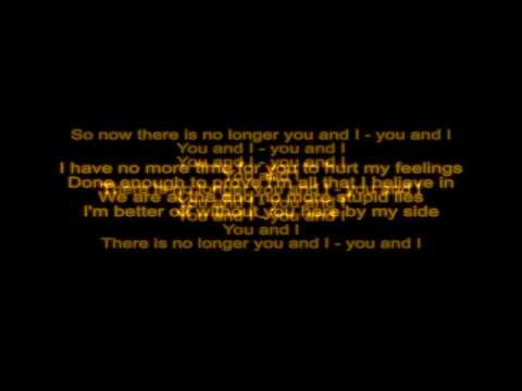 Medina - You & I (Deadmau5 remix) - with LYRICS