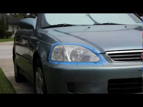 3M Headlight Restoration kit - 1999 Honda Civic Timelapse