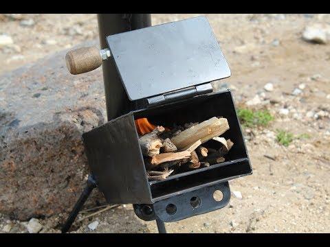 переносная печь для туристов и рыбаков