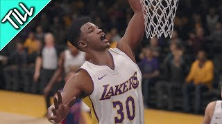 NBA Live 18 The One Walkthrough - Pt.5 Debut NBA Game w/LA Lakers