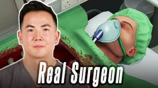 A Real Surgeon Performs Surgery In Surgeon Simulator • Professionals Play