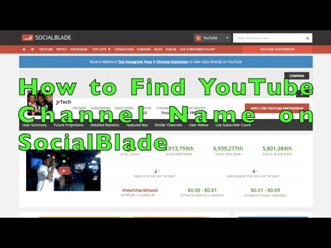 How to Find YouTube Channel Name on Social Blade