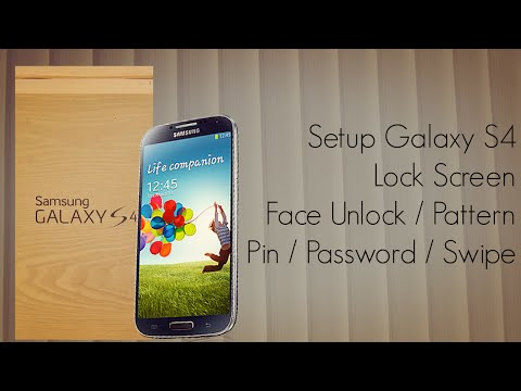 Galaxy S4 Lock Screen Setup Swipe Face Voice Unlock Pattern Pin & Password Security Options