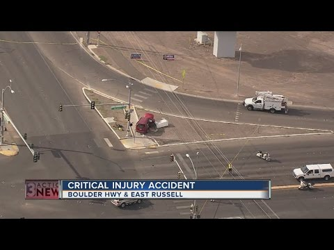 One critical in crash near Russell, Boulder Highway